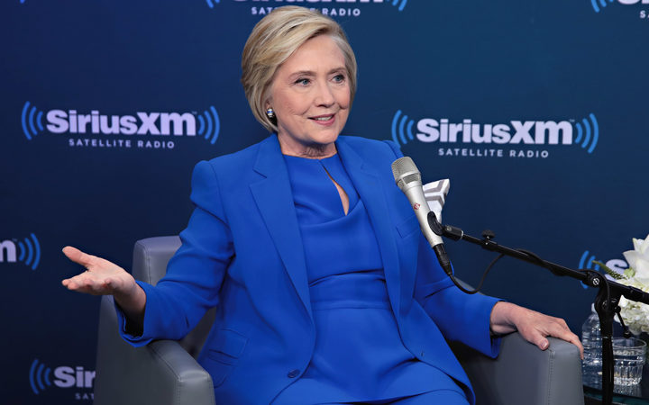 Hillary Clinton at a SiriusXM event in New York City 25 September 2017.
