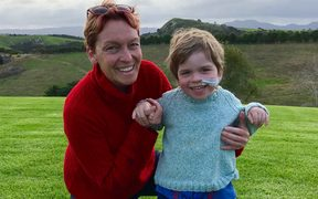 Lucy Bennett and her son David, who has neurofibromatosis type 1 and moyamoya syndrome.