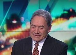 Winston Peters on TV3's 'The Project' last week.