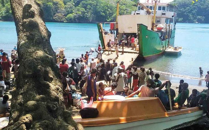 Flotilla sent to rescue Vanuatu islanders as Manaro Voui volcano blows