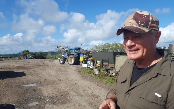 Northland river campaigner Millan Ruka on the paper road.