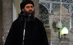 Islamic State leader Abu Bakr al-Baghdadi (file photo)