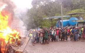 Chaos in Mendi, 3 October 2017.