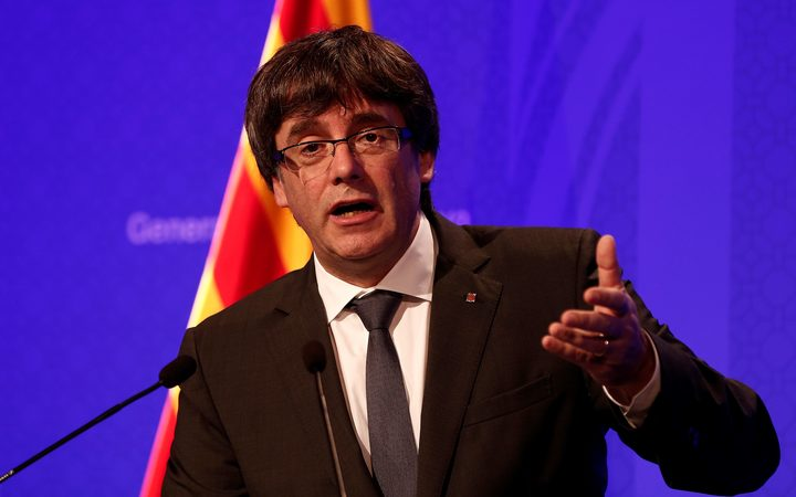 President of Catalonia Carles Puigdemont.