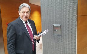 Winston Peters at Parliament before starting his day of meetings.
