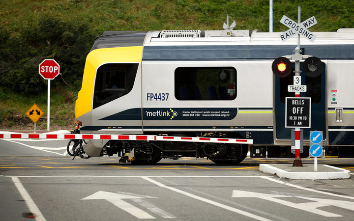Metlink train in Wellington.