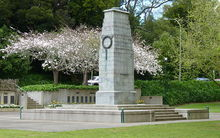 The cenotaph at Memorial Park, Hamilton