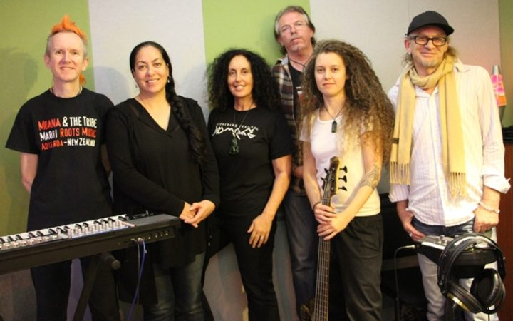 Moana and the Tribe with Trevor Reekie at RNZ in Auckland, 2014.