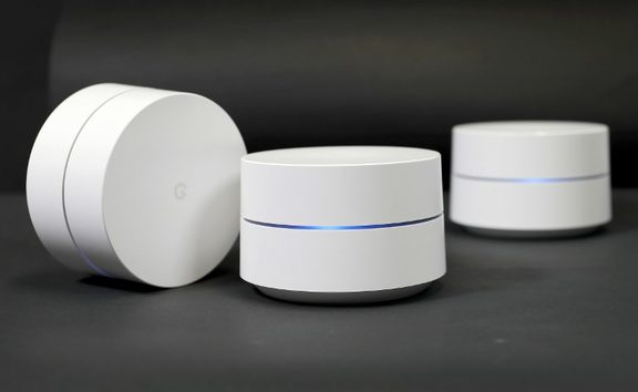 Google Wifi differs from traditional routers by being a mesh networking system made up of multiple nodes, more of which can be added if wider coverage in a home is required.