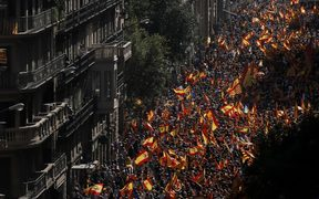 A huge demonstration to support the unity of Spain, on Sunday in Barcelona.
