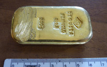 The gold bar is said to be worth $24,000.