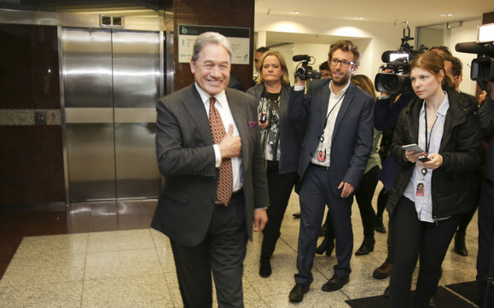Winston Peters emerges from talks: There's still work to be done