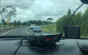 John Campbell joins police while they monitor drivers on New Zealand's worst road.