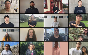 Some of the young Maori leaders who voiced a video calling for Kiwis to talk about mental health and suicide.