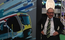 Auckland mayor Len Brown at the launch to celebrate the completion of Auckland's rail electrification.