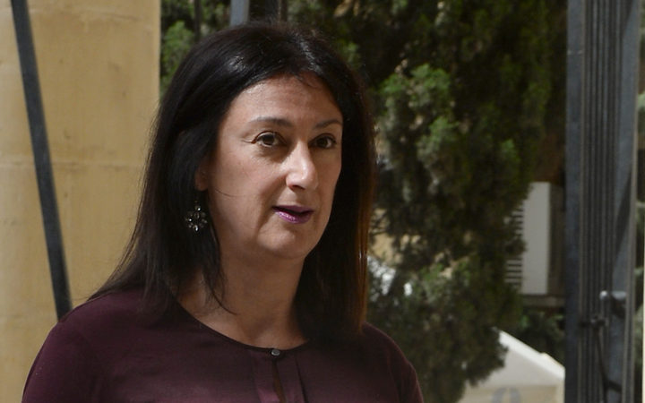 Daphne Capuana Galizia arriving at the Law Court in Malta, in April 2017,
