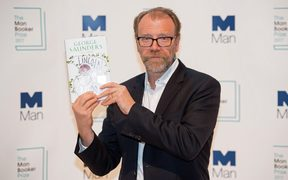 US author George Saunders at the Royal Festival Hall in London.