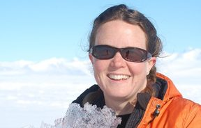 Dr Natalie Robinson in Antarctica in 2016