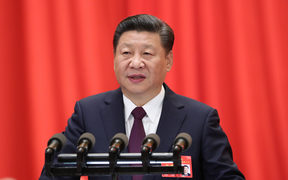 Xi Jinping delivers a report to the 19th National Congress of the Communist Party of China (CPC) on behalf of the 18th Central Committee of the CPC at the Great Hall of the People in Beijing, capital of China, Oct. 18, 2017.