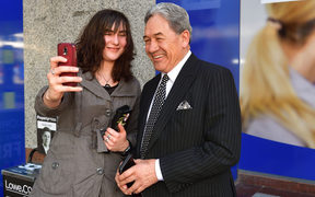 Winston Peters (right).