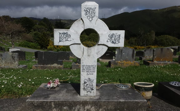 Headstones at the Makara Cemetery Wellington