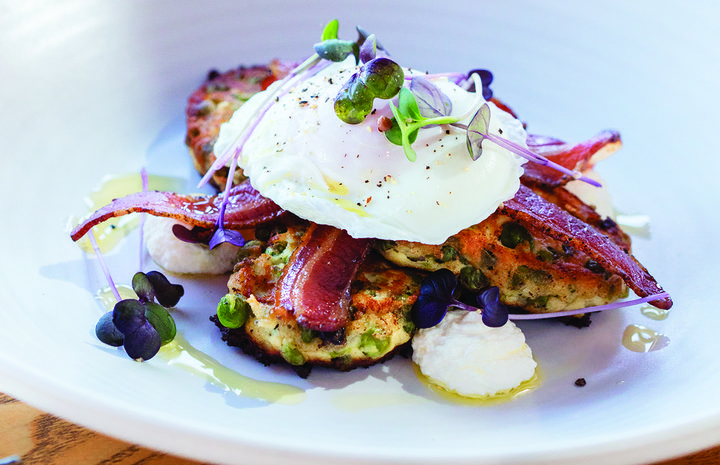 Green Pea Ricotta Fritters
