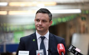 James Shaw speaks the day after the election 24 September 2017