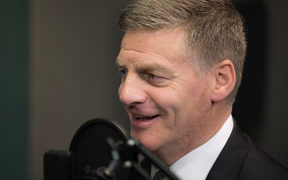 Bill English in the RNZ Auckland studio.