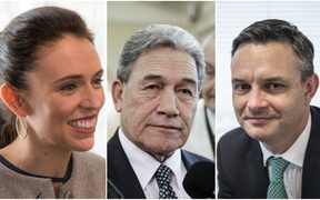 Jacinda Arder, Winston Peters, James Shaw