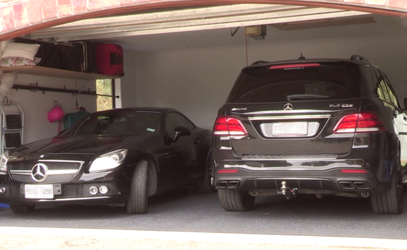 TwoMercedes-Benz vehicles were spotted in the garage.Photo/ Zac Fleming