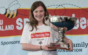 Lucy Jessep was crowned the New Zealand Spelling Bee champion for 2017 after correctly spelling the word 'pusillanimous'.