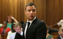 Oscar Pistorius during sentencing at the High Court, Pretoria, in October 2104.