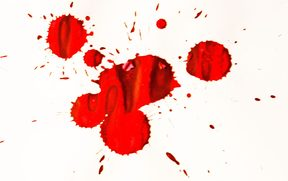 Blood splatter is a common piece of evidence found at crime scenes.