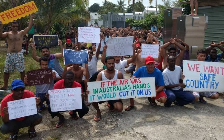 The 93rd day of protest in the Manus Island detention centre, 1-11-17.