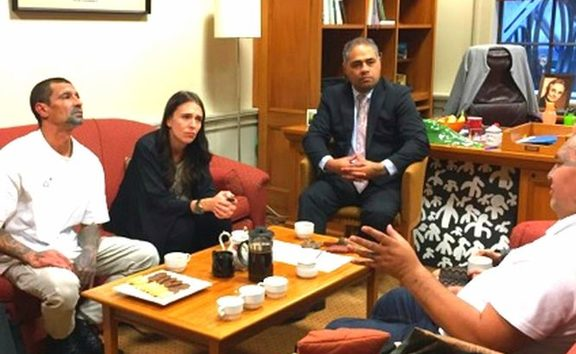 Ngā Mōrehu survivors of state abuse meeting with Prime Minister Jacinda Ardern.