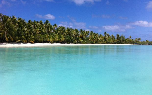 A tropical beach, this one in the Cook Islands, but can be used as a general Pacific stock picture