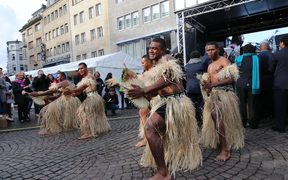 Fijian dancers at the opening of the COP23 conference.