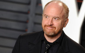 Louis CK arrives at the 2016 Vanity Fair Oscar Party Hosted By Graydon Carter at Wallis Annenberg Center for the Performing Arts on February 28, 2016 in Beverly Hills, California.