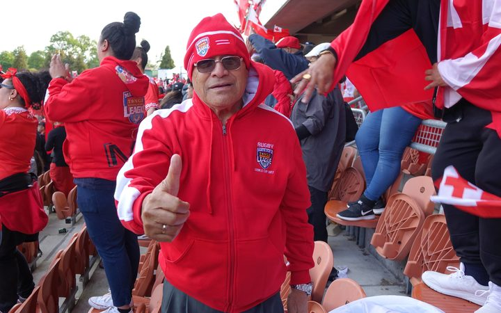 William Hopoate Senior is proud of his son and the Tongan team.