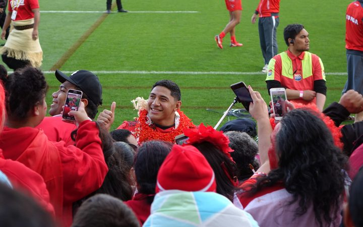 Jason Taumalolo among the fans.