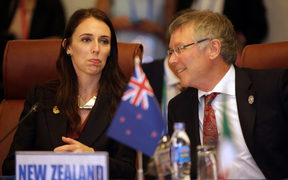 Prime Minister Jacinda Ardern and Trade Minister David Parker at APEC.