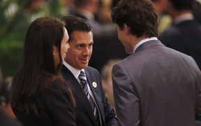 At the APEC summit in Danang (from left) Prime Minister Jacinda Ardern, Mexico's President Enrique Pena Nieto and Canada's Prime Minister Justin Trudeau.