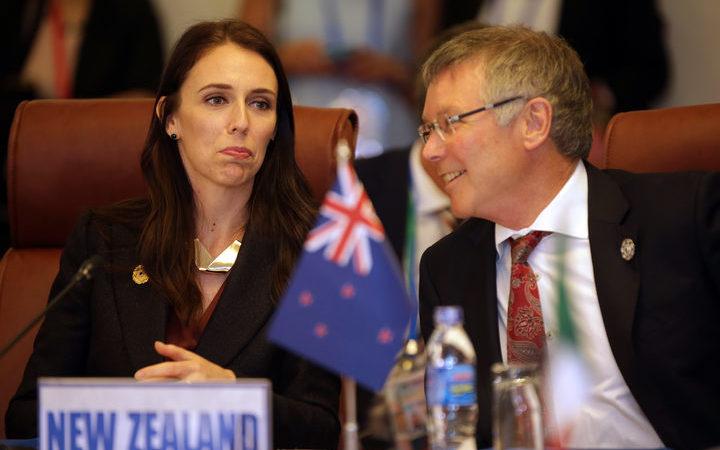 Prime Minister Jacinda Ardern and Trade Minister David Parker.