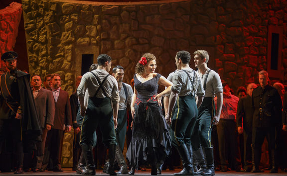 A scene from Carmen at Chicago Lyric Opera