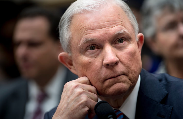 US Attorney General Jeff Sessions at a House Judiciary Committee hearing.