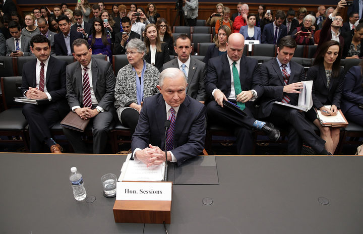 US Attorney General Jeff Sessions at the House Judiciary Committee hearing.