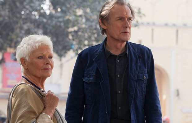 Judy Dench and Bill Nighy in The Best Marigold Hotel.