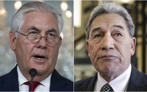 Rex Tillerson called Winston Peters