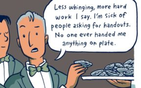 From Toby Morris's Pencilsword on the theme of inequality