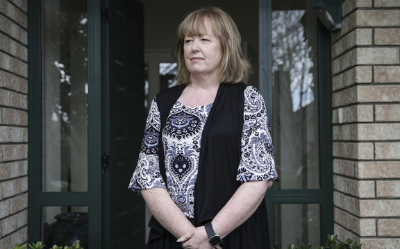 Jim Donnelly went missing in 2004, his wife, Tracey Donnelly pictured in thier home in Auckland.